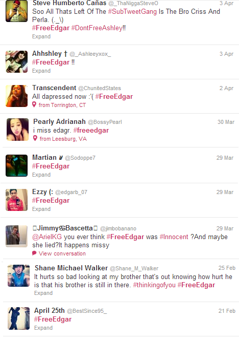 #freeedgar tweets